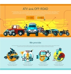 Offroad page design vector