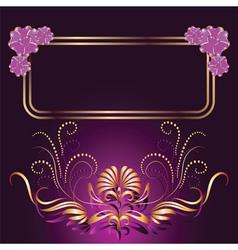 ornament and elegant vector image