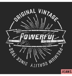 Powerful vintage stamp vector image