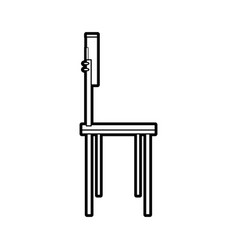 School chair equipment wooden metal vector