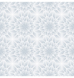 Seamless pattern with grey ornate flower vector