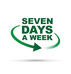 seven days green vector image vector image