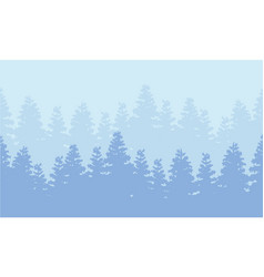 Silhouette of forest spruce landscape vector