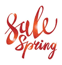 Spring Sale red inscription paint glitz glamor vector image