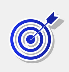 target with dart new year bluish icon vector image