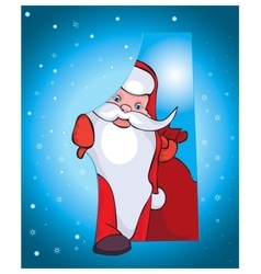 This Santa comes to your house with beautiful vector image vector image