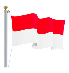 waving indonesia flag isolated on a white vector image