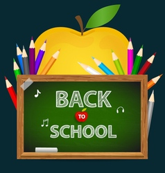 Welcome back to school with blackboard vector image vector image