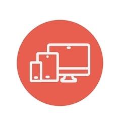 Wireless gadget thin line icon vector image vector image