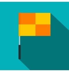 Yellow flag on flagpole flat icon vector image vector image
