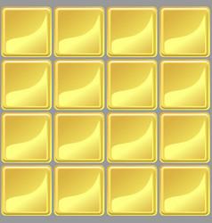 Yellow tiles texture seamless vector