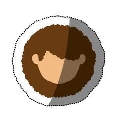 Isolated woman head design vector