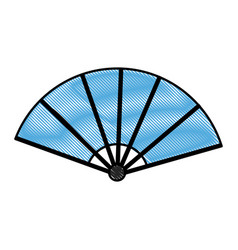 drawing japanese fan folding ornament traditional vector image