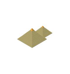 Isolated pyramids isometric egypt elemen vector