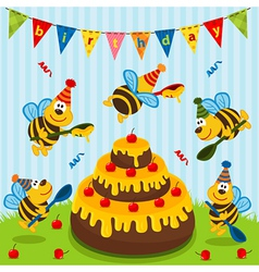 Birthday bees vector