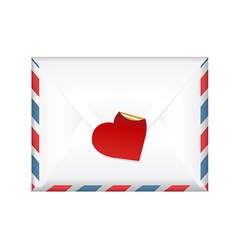 Envelope With A Label vector image
