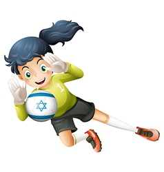 A female football player from israel vector