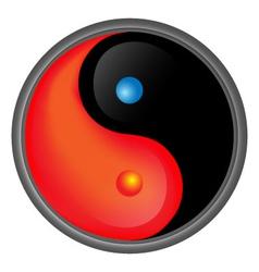 Yin Yang Hot and Cold vector image