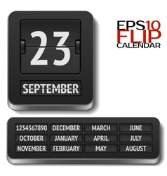 Isolated analog flip calendar isolated vector