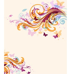 Abstract decorative floral background vector