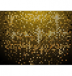 Sparkling gold mosaic background vector