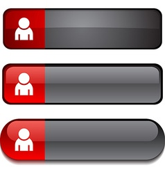 Person button set vector