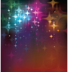 colorful stars background vector image