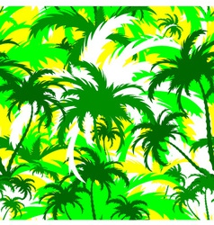 Palm treesseamless background vector