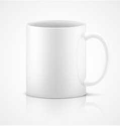 White 3d photorealistic ceramic cup vector