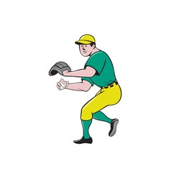 American Baseball Player OutFielder Throwing Ball vector image