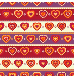 Seamless background with hearts and stripes vector