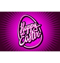 Happy easter trendy hipster hand-written line vector
