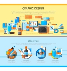 Graphic art page design vector