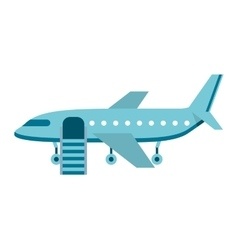 airplane silhouette isolated icon vector image