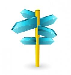 arrow road sigs vector image vector image