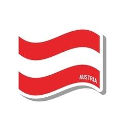 Austria patriotic flag isolated icon vector