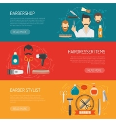 Barber Horizontal Banner vector image