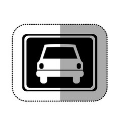 Black square with car front inside vector