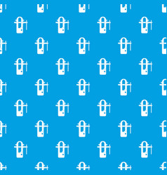 Blacksmiths vice pattern seamless blue vector