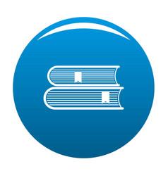 Book college icon blue vector