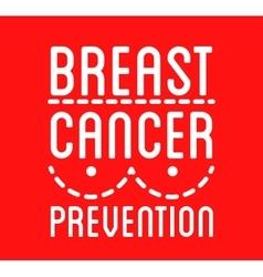Breast cancer awareness logo ribbon and vector