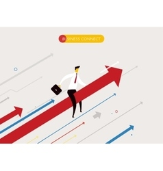 Businessman flying success vector