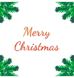 Christmas tree brunches greeting card vector