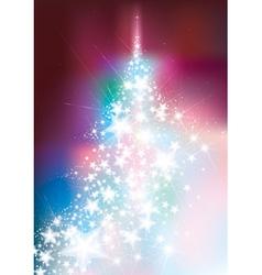 Christmas tree colorful vector