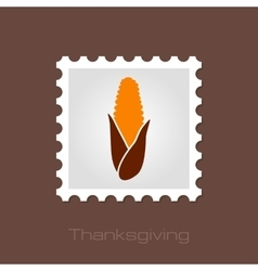 Corn stamp harvest thanksgiving vector