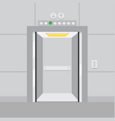 elevator with opened door vector image