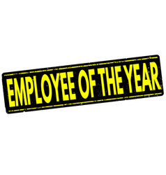 Employee of the year stamp vector
