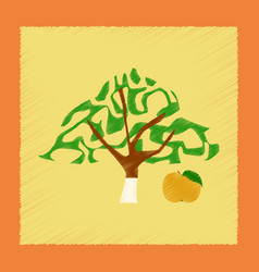 Flat shading style plant malus vector