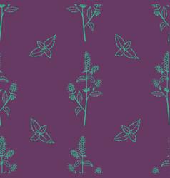 Gentle flower seamless pattern vector