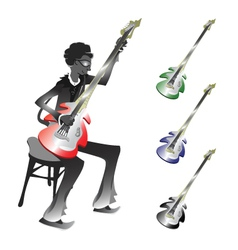 Groovy bassist vector
